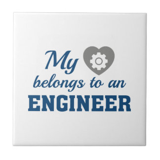 Heart Belongs Engineer Ceramic Tile