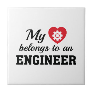 Heart Belongs Engineer Tile