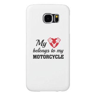 Heart Belongs Motorcycle Samsung Galaxy S6 Cases