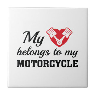 Heart Belongs Motorcycle Tile
