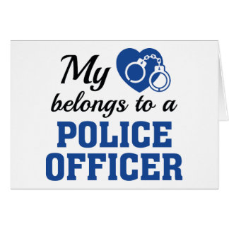 Heart Belongs Police Officer Card