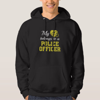 Heart Belongs Police Officer Hoodie