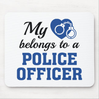 Heart Belongs Police Officer Mouse Pad