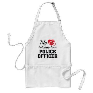 Heart Belongs Police Officer Standard Apron