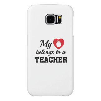 Heart Belongs Teacher Samsung Galaxy S6 Cases