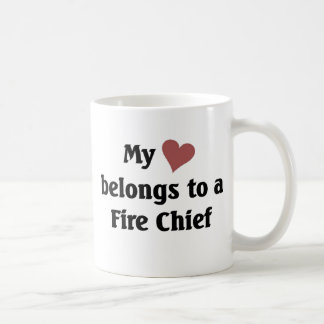 Heart belongs to a fire chief coffee mug