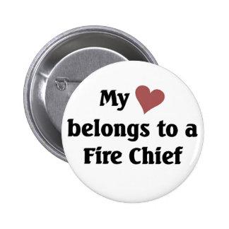 Heart belongs to a fire chief pin