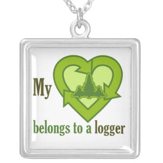 Heart Belongs to a Logger Necklace