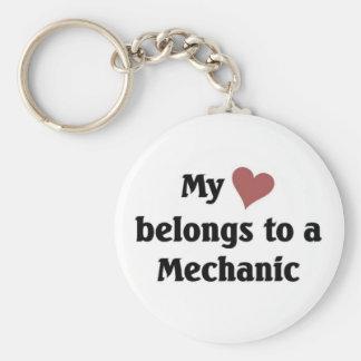 Heart belongs to a mechanic key ring
