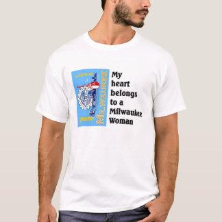 Heart belongs to a Milwaukee Woman T-Shirt