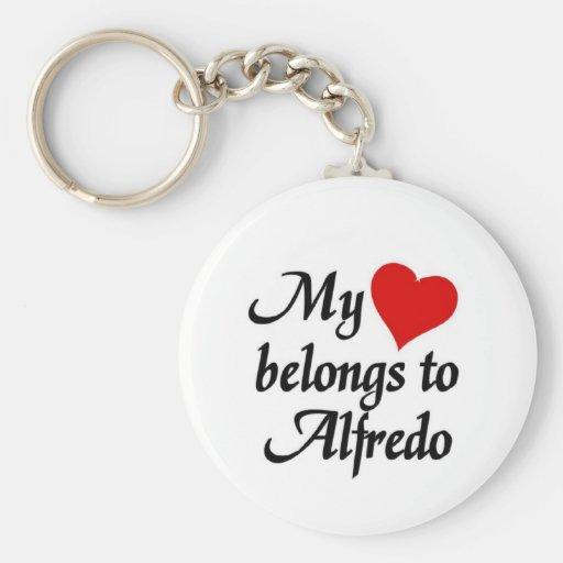 Heart belongs to Alfredo Keychains