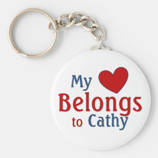 Heart belongs to cathy key ring