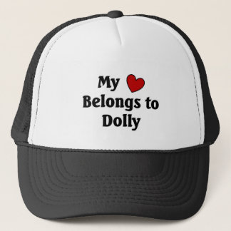 Heart belongs to dolly trucker hat