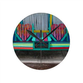 Heart Bench Round Clock