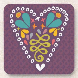 Heart Beverage Coasters