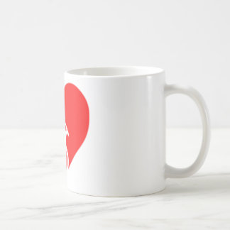 heart bicycle cutout coffee mug