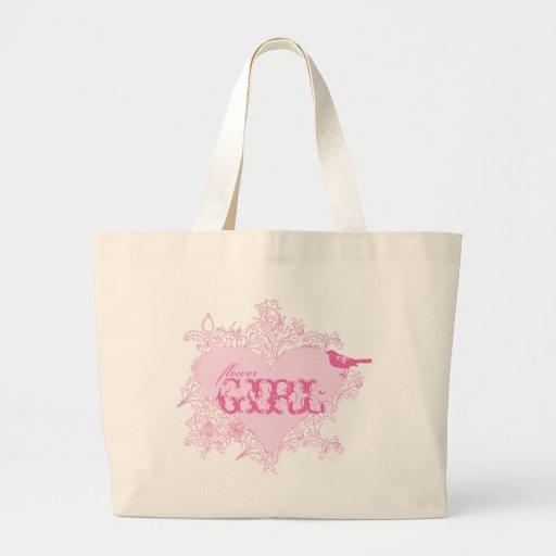 Heart & Bird Flower Girl Bag