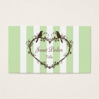 Heart & Birds Business Card