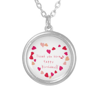 heart birthday personalized necklace