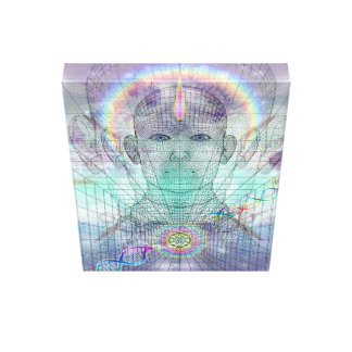 Heart Bliss DNA Implosion Canvas Print