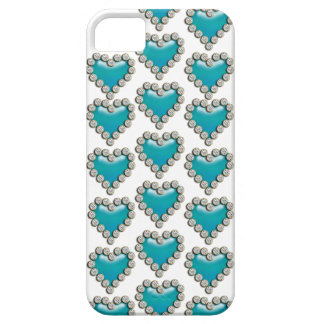 Heart blue white iPhone 5 cases