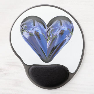 heart bluebell gel mouse pad