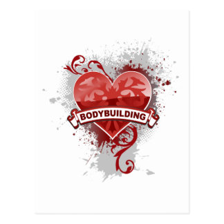 Heart Bodybuilding Postcard