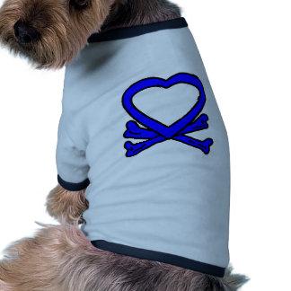 Heart & Bones Blue The MUSEUM Zazzle Gifts Pet Clothing