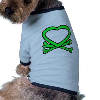 Heart & Bones Green The MUSEUM Zazzle Gifts Pet Tee Shirt