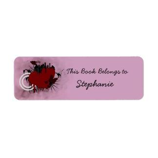 heart bookplate return address label