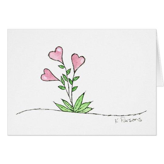 Heart Boquet Card