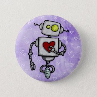 heart bot 6 cm round badge