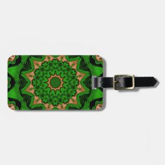 Heart Box Sun Green Luggage Tag