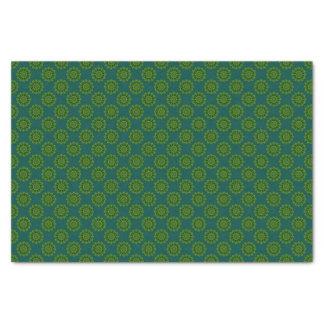 Heart Box Sun Green Tissue Paper