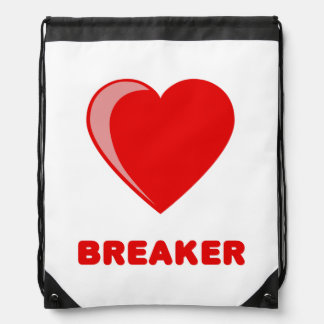Heart Breaker Drawstring Bags