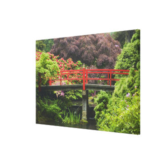 Heart Bridge with blossoming rhododendrons, Canvas Prints