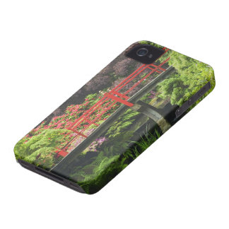 Heart Bridge with blossoming rhododendrons, Case-Mate iPhone 4 Cases