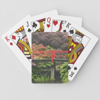 Heart Bridge with blossoming rhododendrons, Playing Cards