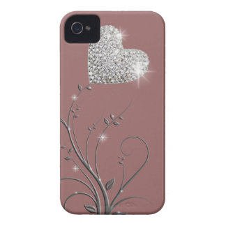 Heart brilliant lovely design Case-Mate iPhone 4 cases