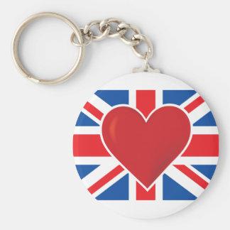 Heart British Flag Keychains