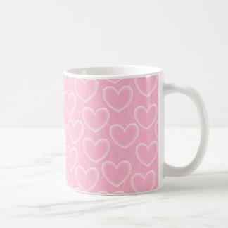Heart Bubbles - Pink Basic White Mug