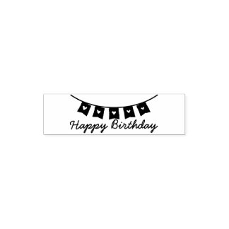Heart Bunting Happy Birthday Pocket Stamp