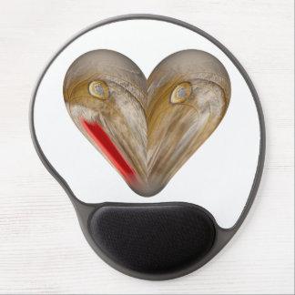 heart butterfly wing gel mouse pad