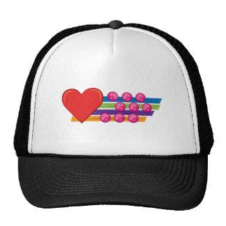 Heart & Buttons Mesh Hat