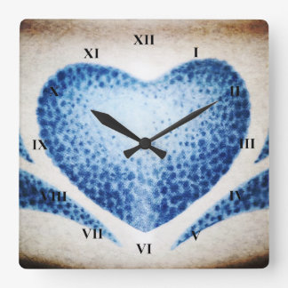 Heart by Shirley Taylor Square Wall Clock