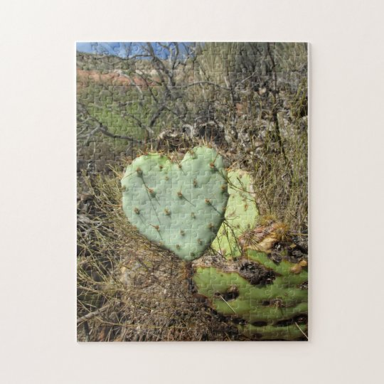 heart cactus jigsaw puzzle