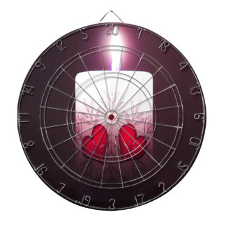 Heart Candle w Single Flame, Valentines Day Dartboard