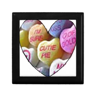 HEART CANDY IMAGES ON ITEMS SMALL SQUARE GIFT BOX