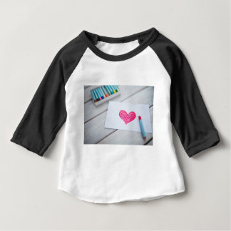 Heart Card Pastels Figure Valentine's Day Love Baby T-Shirt