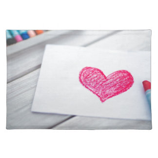 Heart Card Pastels Figure Valentine's Day Love Placemat